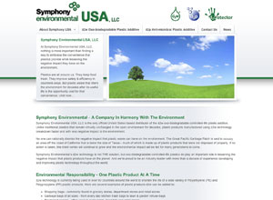 Small Business Website Design Sample Work -Symphony Environmental USA