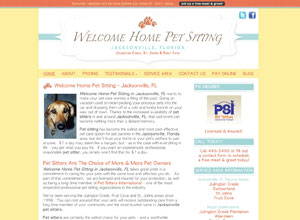 Small Business Website Design Sample Work - Welcome Home Pet Sitting