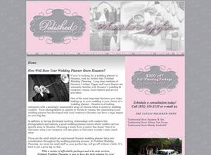 Small Business Website Design Sample Work - Polished Wedding Planning