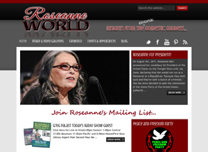 Small Business Website Design Sample Work - RoseanneWorld
