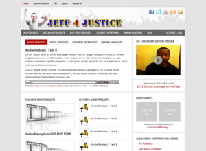 Small Business Website Design Sample Work - Jeff 4 Justice