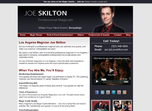 Small Business Website Design Sample Work - Joe Skilton